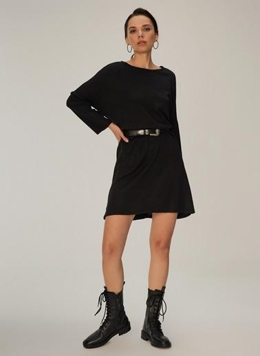 NGSTYLE Oversize Triko Elbise Siyah
